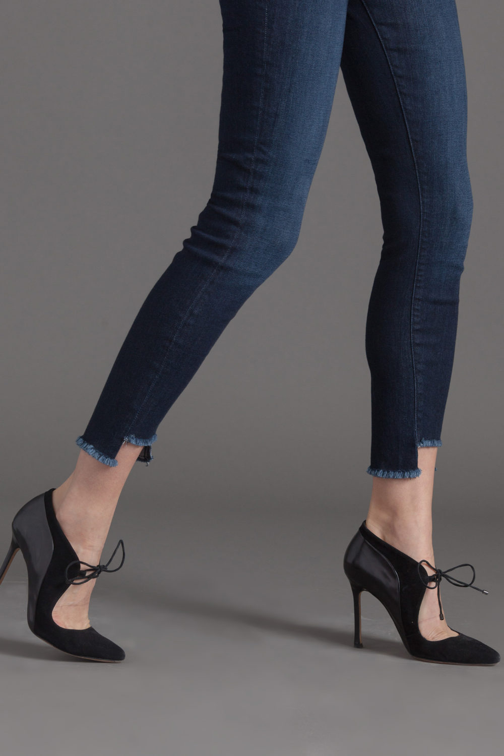 TWISTED SEAM SKINNY IN BLUE STEEL
