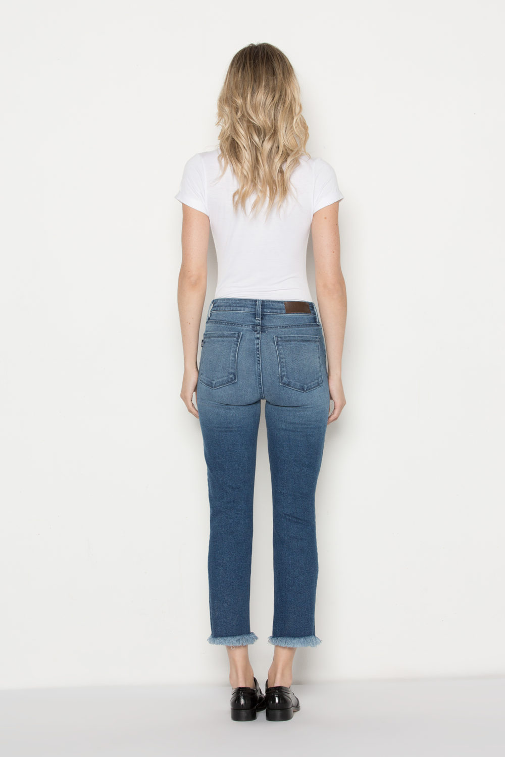 PIN-UP CROP STRAIGHT IN INDIGO RAY