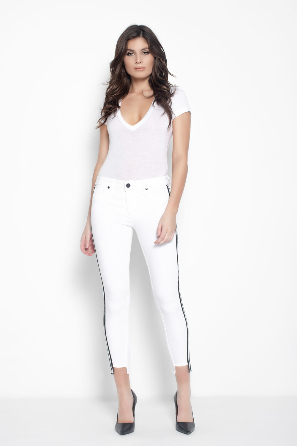 TWISTED SEAM SKINNY IN ETERNAL WHITE