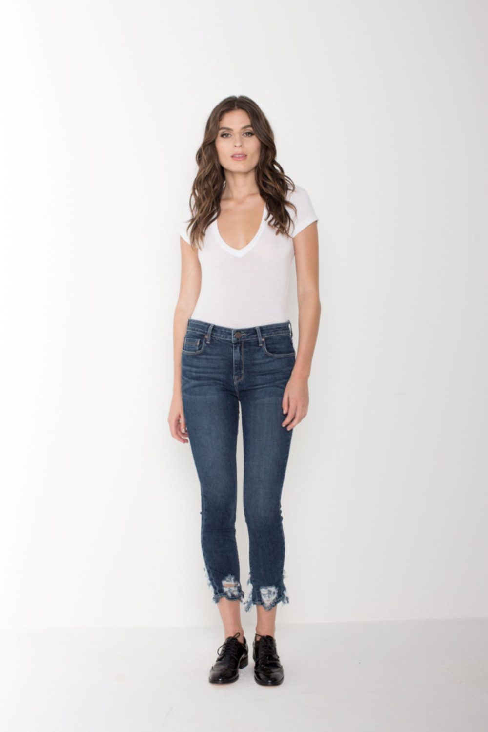 AVA CROP SKINNY IN MISTY