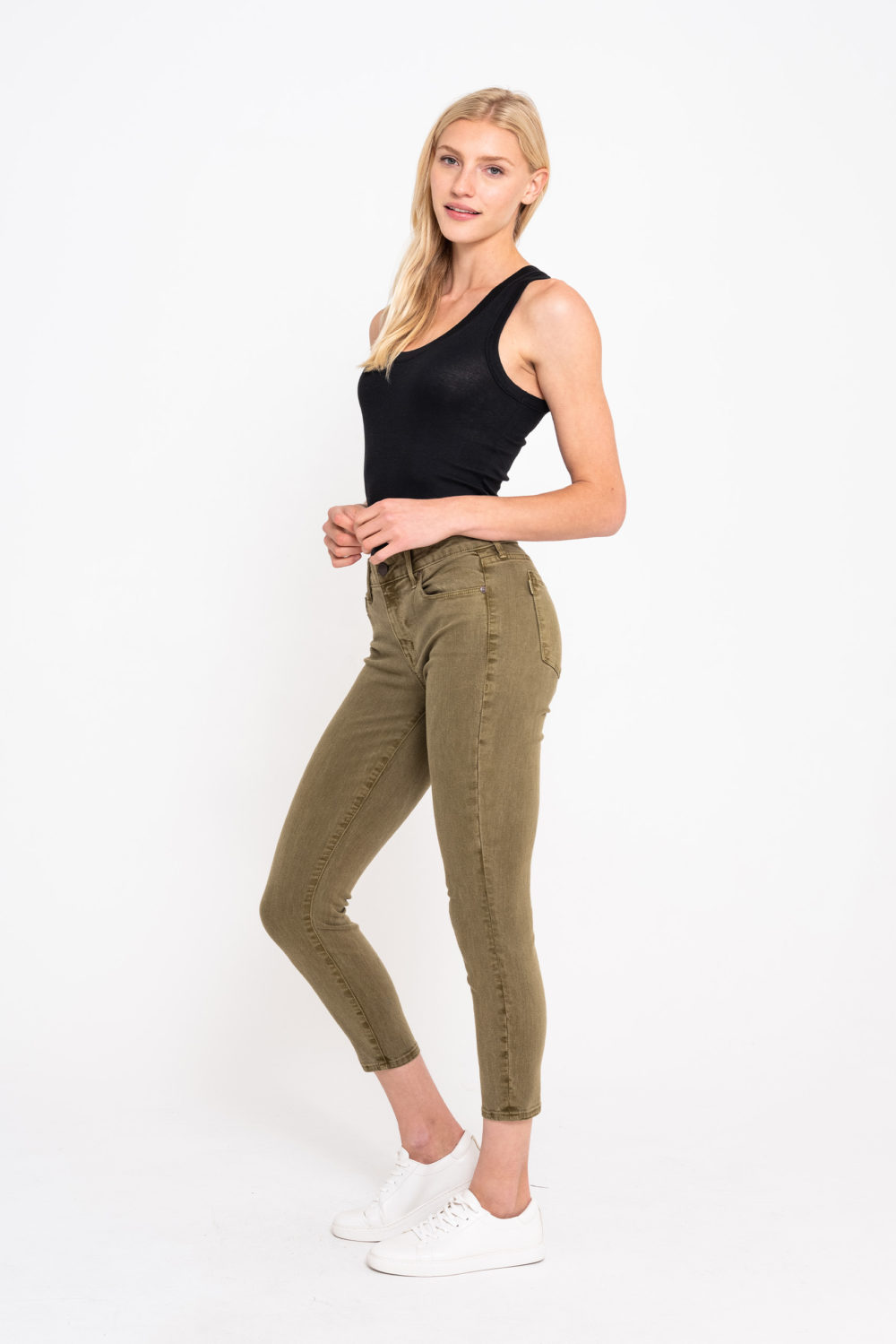 AVA CROP SKINNY IN ARMY