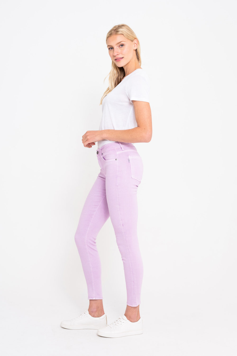 BOMBSHELL CROP SKINNY IN LILAC
